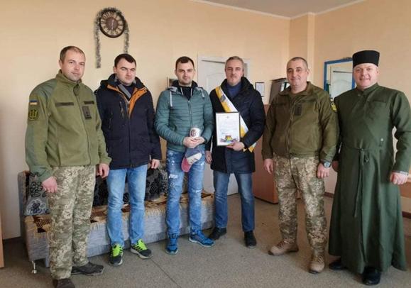 Греко-католики Одеси отримали подяку від полку морської піхоти ВМС України