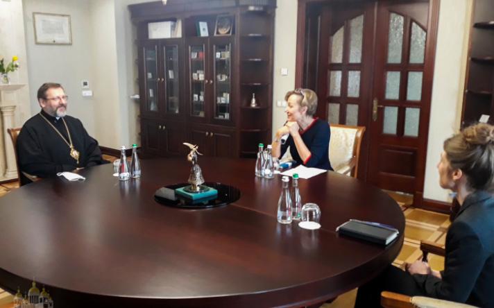 Глава УГКЦ обговорив з послом Німеччини в Україні релігійну і суспільну ситуацію