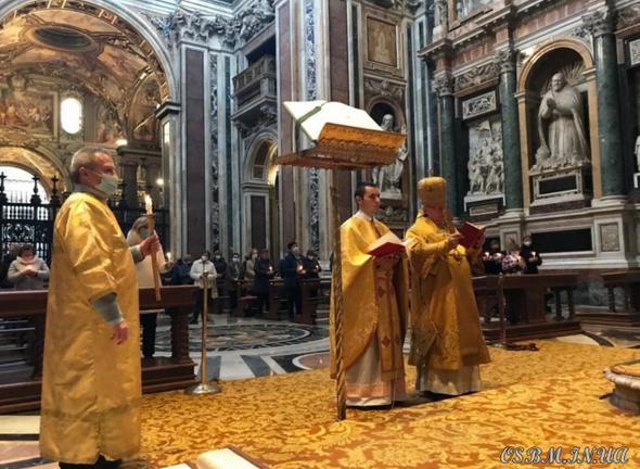 За героїв Небесної сотні молилися в папській базиліці у Римі