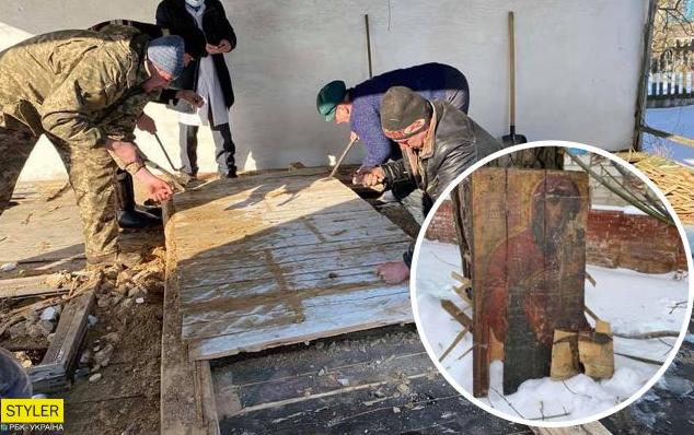 Під Черніговом виявили стародавні ікони в руїнах старої лікарні