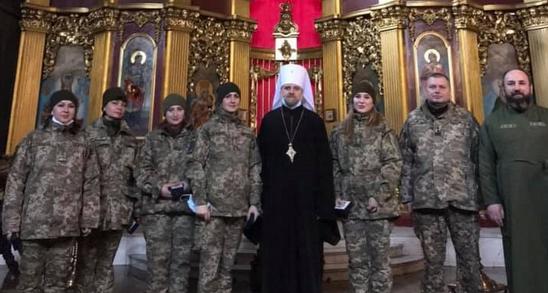 Митрополит ПЦУ нагородив військових медаллю «За жертовність і любов до України»