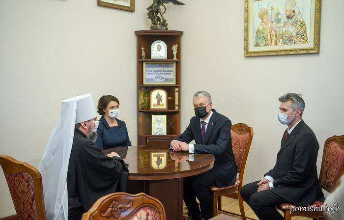 Глава ПЦУ обговорив з президентом Литви релігійну ситуацію в Україні, зокрема в Криму і Донбасі
