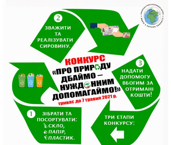 УГКЦ проводить всеукраїнський екосоціальний конкурс «Про природу дбаймо – нужденним допомагаймо!»