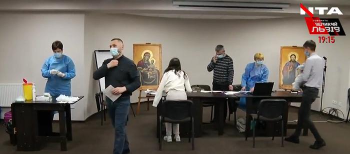 Сотні священників проходять вакцинацію у Патріаршому домі УГКЦ