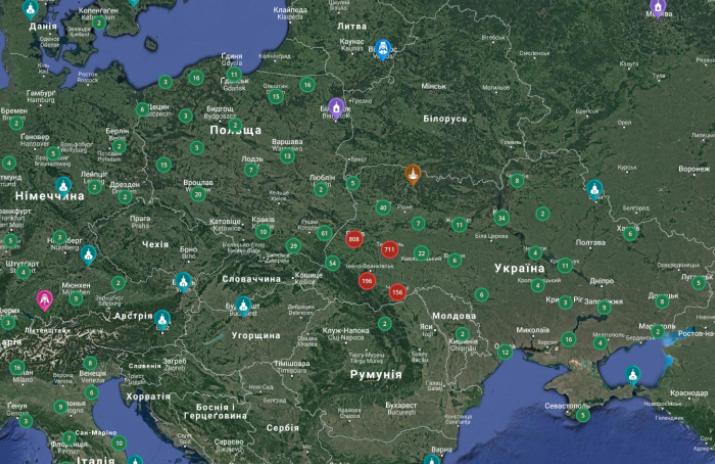 На інтерактивній карті УГКЦ уже більше 3190 об
