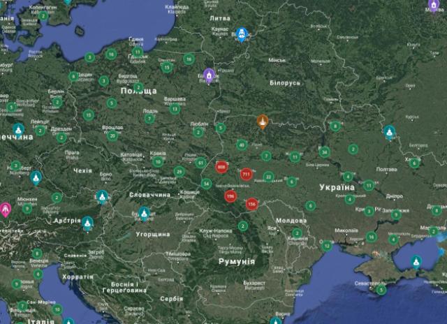 На інтерактивній карті УГКЦ уже більше 3190 об'єктів