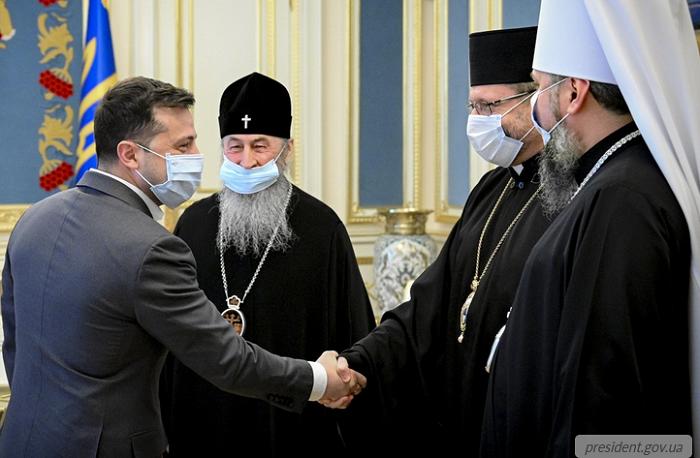 Предстоятелі церков дійшли згоди з президентом України в питаннях карантину, вакцинації та миру на Донбасі