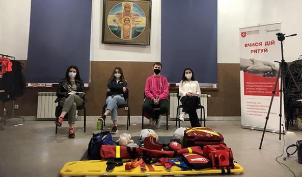 Католицька Мальтійська служба розпочала в Україні онлайн-навчання майбутніх рятувальників