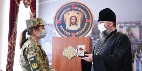 ПЦУ відзначила нагородами прикордонників та дружин військових священників