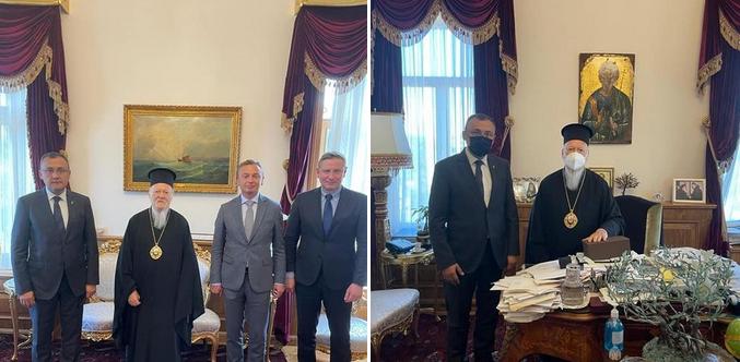 Заступник міністра МЗС України обговорив з Вселенським патріархом його візит в Україну