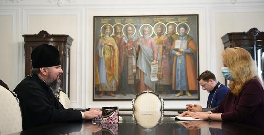 Глава ПЦУ обговорив з головою Держслужби з етнополітики та свободи совісті підготовку візиту патріарха Варфоломія в Україну