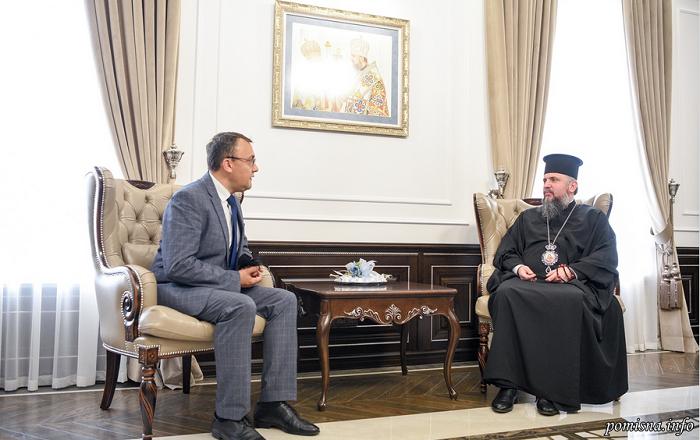 Глава ПЦУ обговорив з заступником міністра МЗС організацію візиту Вселенського патріарха в Україну