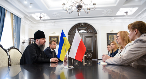 Митрополит Епіфаній обговорив з віце-маршалком сейму Польщі міжконфесійні взаємовідносини в Україні