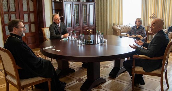 Глава УГКЦ з делегацією ЮНЕСКО обговорив питання збереження та розвитку резиденції Андрея Шептицького в Італії