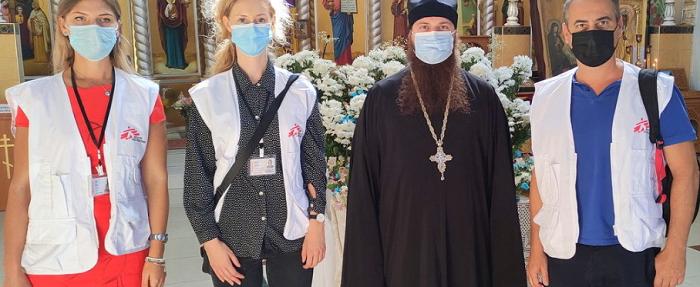Духовенство Сєверодонецької єпархії УПЦ (МП) зустрілося з представником «Лікарей без кордонів»