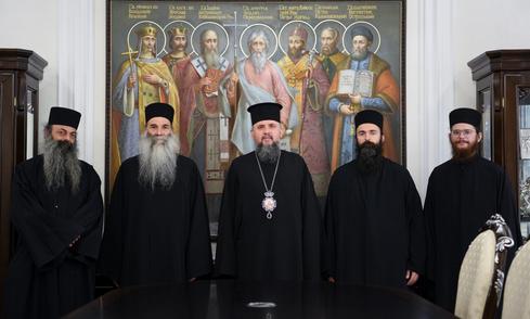 Митрополит Епіфаній провів зустріч з монахами зі Святої Гори Афон
