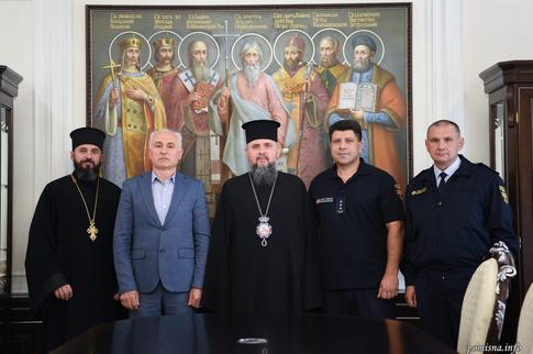 Митрополит Епіфаній відзначив рятувальників ДСНС