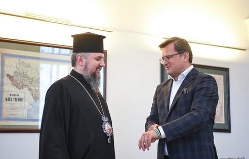 Предстоятель ПЦУ обговорив з міністром закордонних справ релігійну ситуацію в Україні та світі