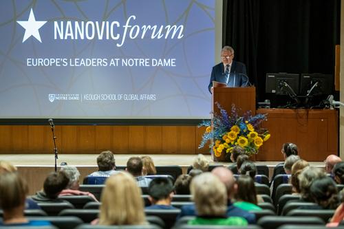 Проректор Українського католицького університету зібрав повний зал слухачів в Університеті Нотр-Дам у США