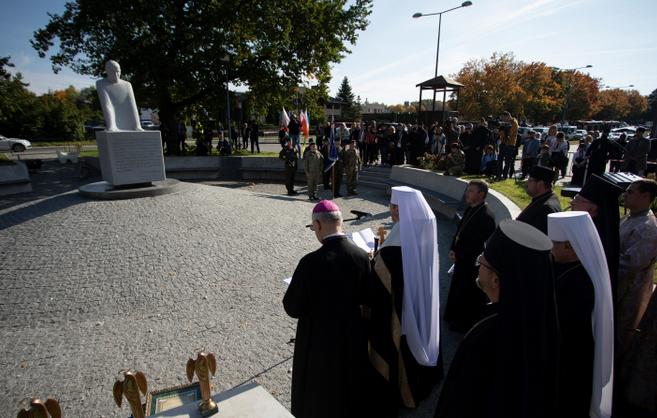 Глава УГКЦ освятив пам'ятник блаженному Омеляну Ковчу в Любліні