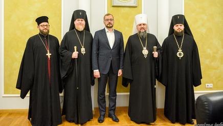 Митрополит Епіфаній і голова Чернігівської ОДА обговорили релігійну і міжконфесійну ситуацію